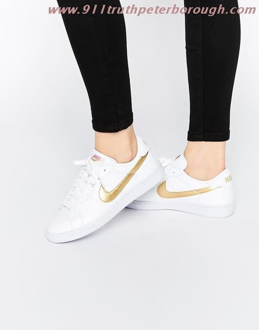 Nike Shoes Gold Swoosh