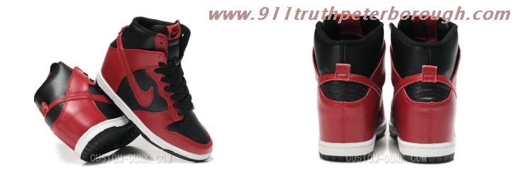 Nike Wedge Sneakers Black And Red